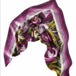 Missoni for Target 100% Silk Square Scarf purple